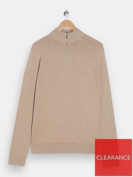 topman-turtle-neck-knitted-jumper-stone
