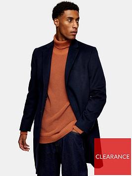 topman-classic-fit-coat-navy