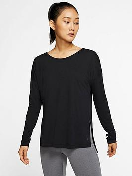 nike-training-dry-layer-long-sleevenbsptop-black