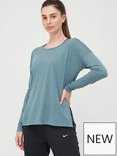 nike-training-dry-layer-long-sleeve-top-blue