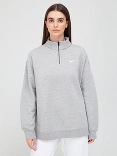 nike-nsw-quarter-zip-trend-sweat-top-grey