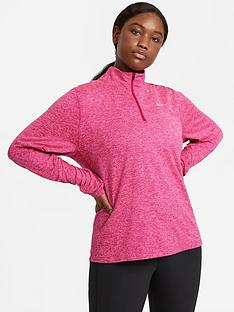 nike-running-long-sleevenbspelement-zip-top-curve-pink