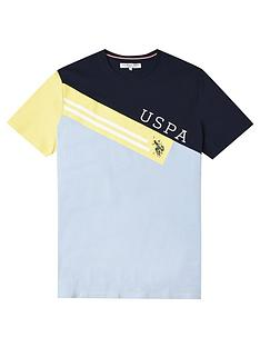 us-polo-assn-boys-diagonal-colourblock-t-shirt-blue