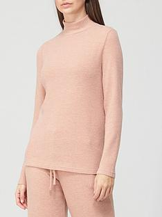 v-by-very-long-sleeve-high-neck-snit-co-ord-top-camel