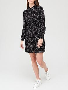 v-by-very-long-sleeve-belted-shirt-mini-dress-blackfloral