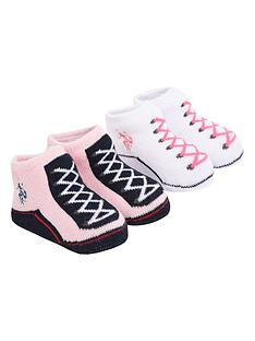 us-polo-assn-baby-girl-bootie-set-pink