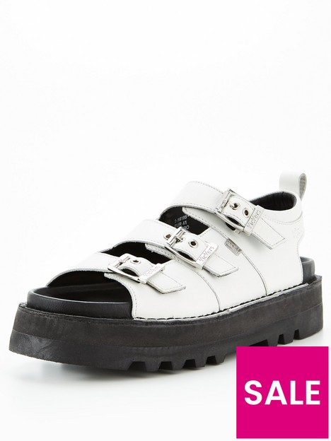 kickers-knox-lo-buckle-flat-leather-sandal--nbspwhite