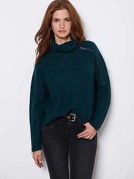 mint-velvet-mint-velvet-zip-detail-chunky-knit-teal