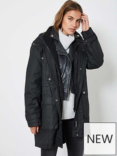 mint-velvet-double-layer-waxed-parka-black