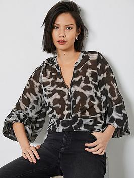 mint-velvet-mint-velvet-alexa-animal-print-zip-front-blouse
