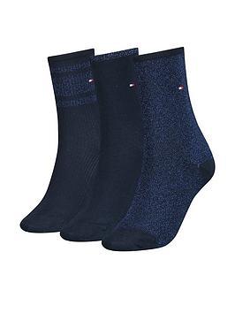 tommy-hilfiger-3nbsppack-lurex-sock-gift-box-navy