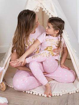 disney princess girls disney princess mini me pyjamas - pink