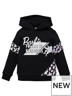 barbie-girls-powered-by-kindness-unicorn-hoodie-black