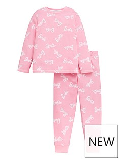 barbie-girlsnbspall-over-print-long-sleeve-pjs-pink