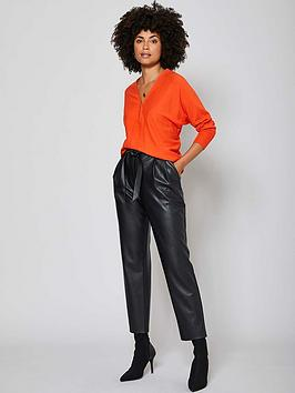 mint-velvet-zip-front-batwing-jumper-orange