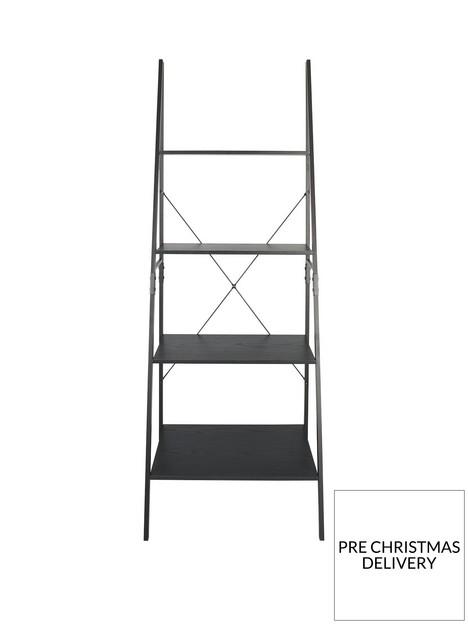telford-ladder-bookcase-black