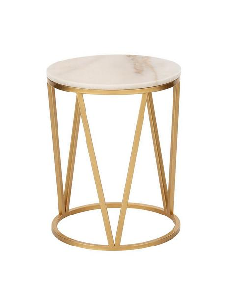 michelle-keegan-home-stella-round-marble-side-table