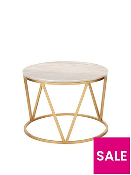 michelle-keegan-home-stella-round-marble-coffee-table