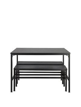 Telford Table And 2 Bench (Square Leg)