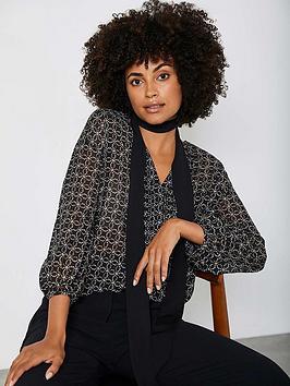 mint-velvet-roxy-foil-print-boho-blouse-black
