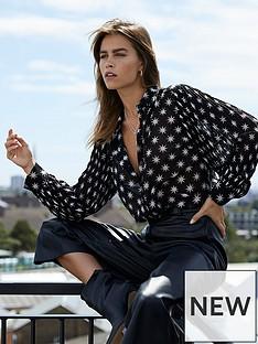 mint-velvet-mint-velvet-luna-star-foil-print-pleat-sleeve-blouse