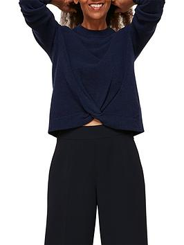 whistles-twist-front-wool-cashmere-knit-navy
