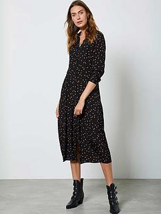 mint-velvet-star-print-pleat-front-midi-shirt-dress-black
