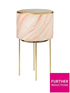 michelle-keegan-pink-marble-effect-planter-on-stand