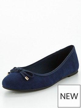 v-by-very-valuenbsplucky-round-toe-ballerina-navy