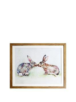 arthouse-kissing-rabbits-framed-print