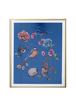 arthouse-floral-canvas-with-gold-frame
