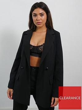 missguided-missguided-tailored-longline-blazer-black