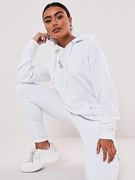 missguided-missguided-co-ord-hoodie-and-jogger-set-white