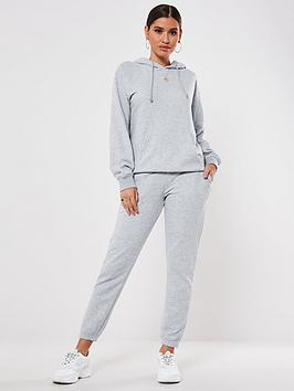 Missguided Missguided Oversized Co Ord Hoodie And Jogger Set - Grey