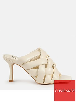 missguided-missguided-padded-woven-cross-over-mule-cream
