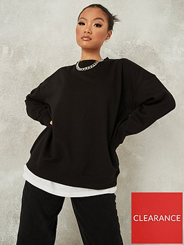 missguided-missguided-oversized-crew-neck-sweatshirt-black