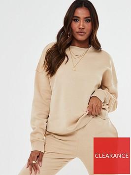 missguided-missguided-oversized-crew-neck-sweatshirt-stone