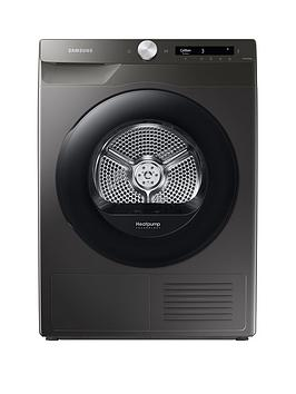 Samsung Series 5+ Dv90T5240An/S1 With Optimaldry 9Kg Heat Pump Tumble Dryer, A+++ Rated - Graphite