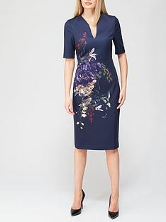 ted-baker-pomegranate-midi-bodycon-dress-navy