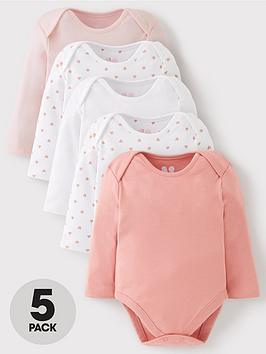 mini-v-by-very-baby-girls-5-pack-long-sleeve-essentialnbspbodysuits-pink-mix