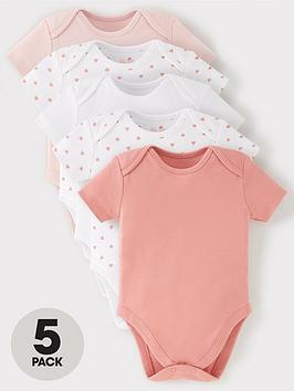 mini-v-by-very-baby-girls-5-pack-short-sleeve-essentialnbspbodysuits-pink-mix