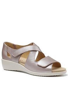 hotter-riga-leathernbsplow-wedge-sandals-metallic
