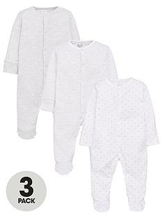 mini-v-by-very-baby-unisex-3-pack-essentialsnbspsleepsuits-white