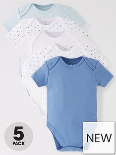 mini-v-by-very-baby-boys-5-pack-short-sleeve-essentialnbspbodysuits-blue-mix