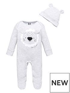 mini-v-by-very-baby-boys-lionnbspsleepsuit-and-hat-grey-marlnbsp