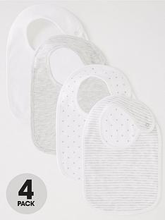 mini-v-by-very-baby-unisex-4-packnbspspot-bibs-greywhite