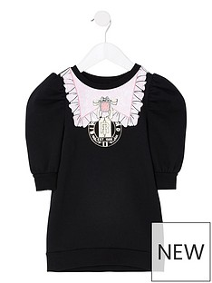 river-island-mini-mini-girls-puff-sleeve-sweat-dress-black