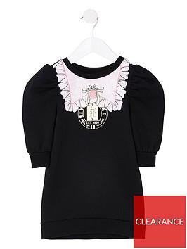 river-island-mini-mini-girls-puff-sleeve-sweat-dress-black
