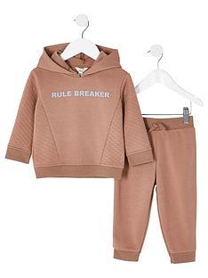 river-island-mini-boys-2-piecenbsprule-breaker-hoodie-and-jog-pants-set-beige