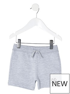 river-island-mini-mini-boys-rvr-jersey-jog-shorts-grey